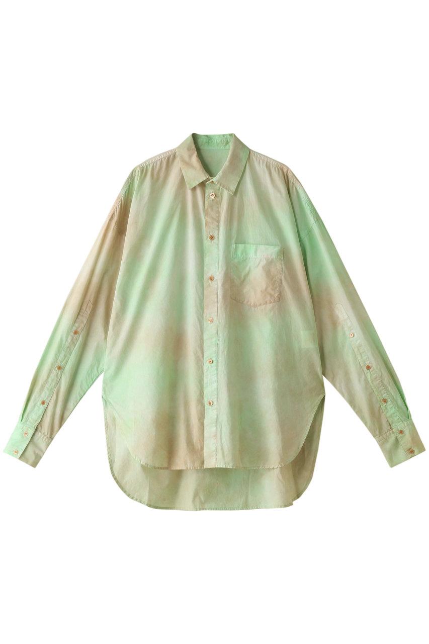 メゾンスペシャル/MAISON SPECIALのブラッシュカラーシャツ(GRN(グリーン)/21211315404)