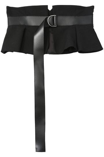 メゾン スペシャル/MAISON SPECIALのカットオフジャケットコルセットベルト(BLK(ブラック)/21191665201)