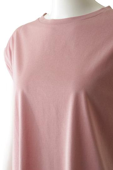 メゾン スペシャル/MAISON SPECIALのアシンメトリースリットTシャツ(BLU(ブルー)/21191415306)