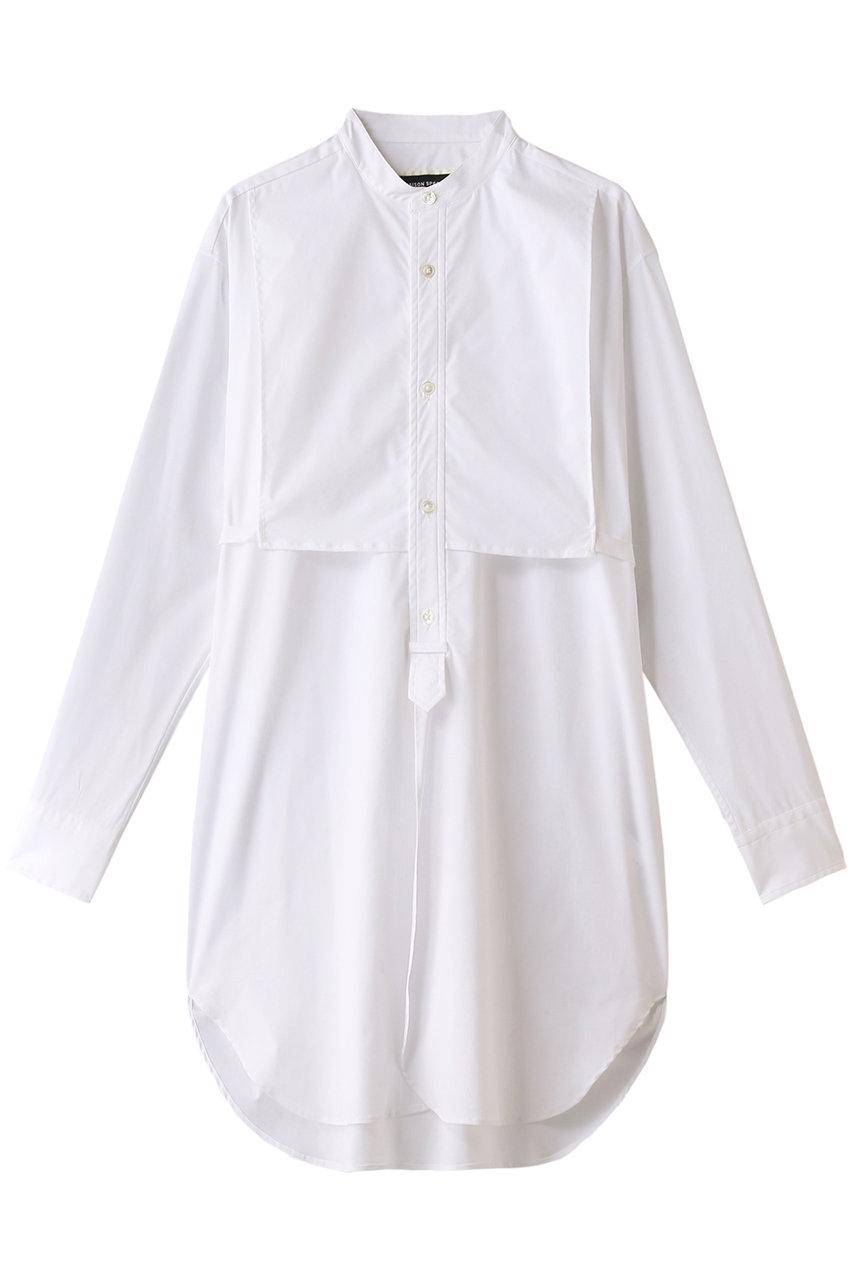 【予約販売】コットンスタンドカラーロングシャツ