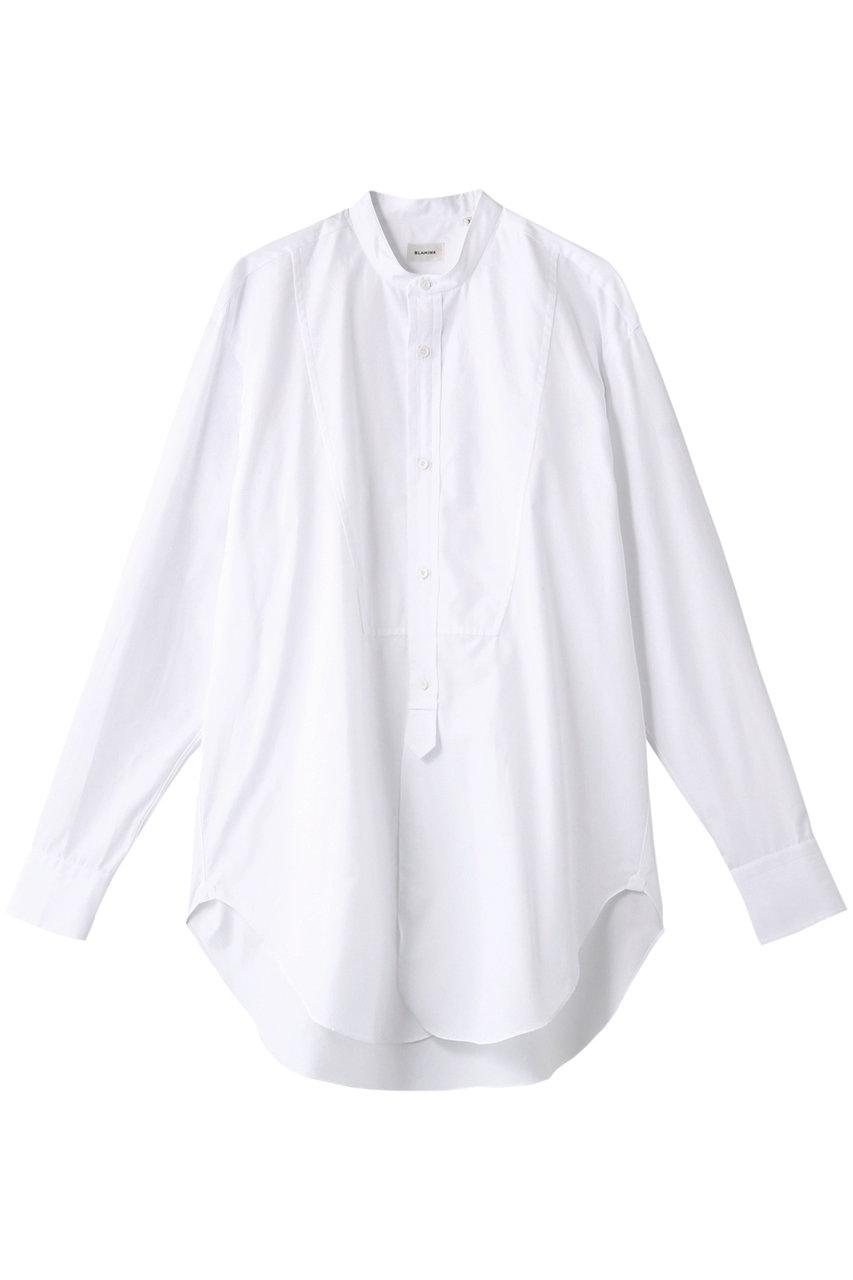 ブラミンク/BLAMINKのコットン バンドカラーシャツ(ホワイト/7911-299-0002)
