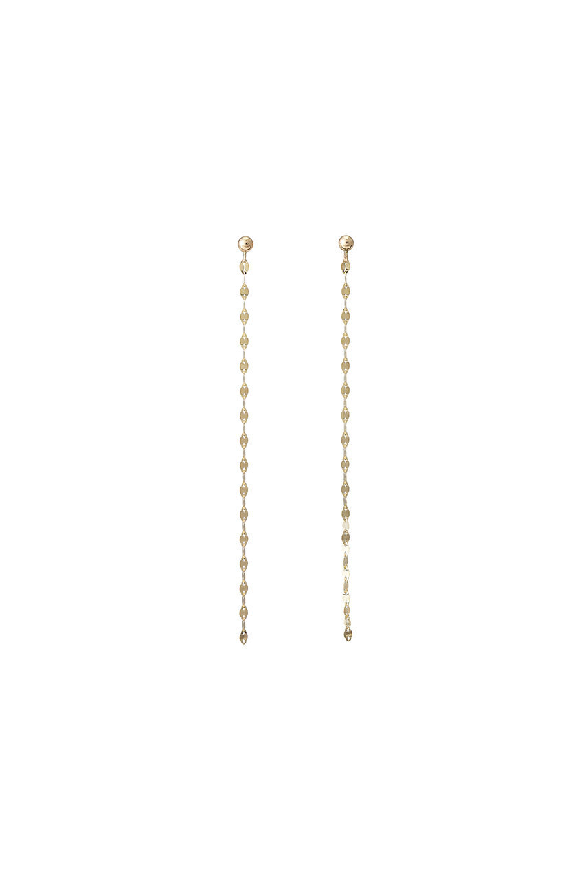 ル ボンボン/les bonbonのeclair chain ピアス(ゴールド/BOB13)