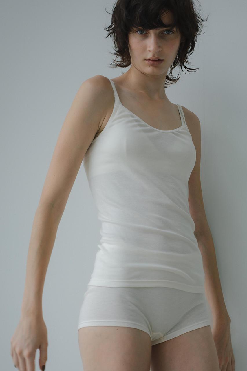 サク・レ/Sacreの【In your shirts】フライスキャミソール(オフベージュ/4967440264583)