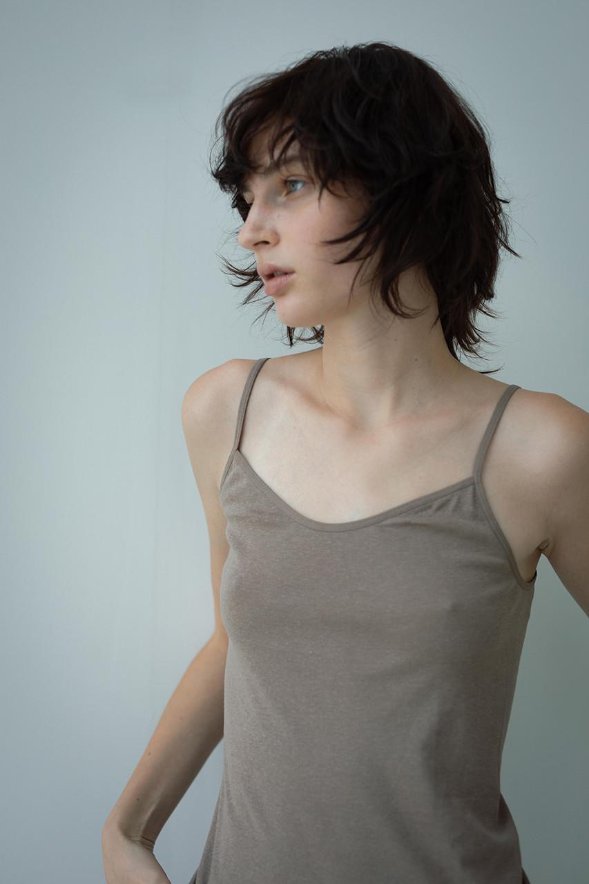 サク・レ/Sacreの【In your shirts】フライスキャミソール(モカ/4967440264583)