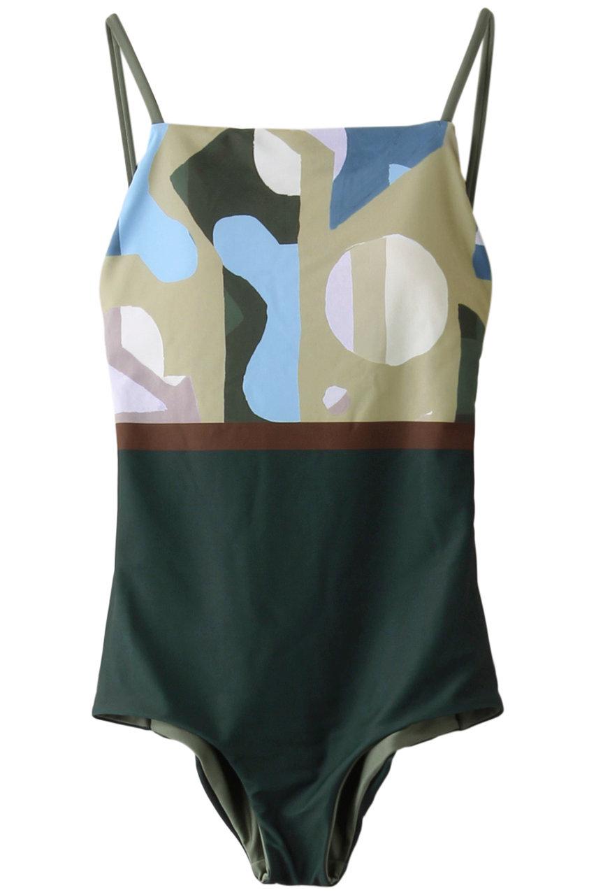 リムアーク/RIM.ARKのCubism reversible swim wear/スイムウェア・水着(グリーン/460DSL20-0010)