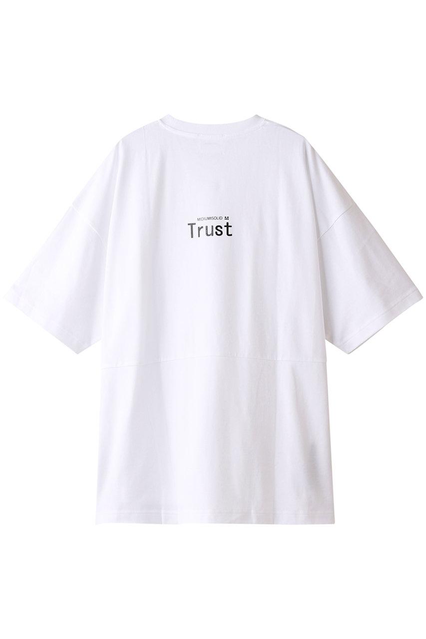 ミディウミソリッド/MIDIUMISOLIDの【UNISEX】LOGO PRINT T-SHIRTS/Tシャツ(オフホワイトA/3-110825)