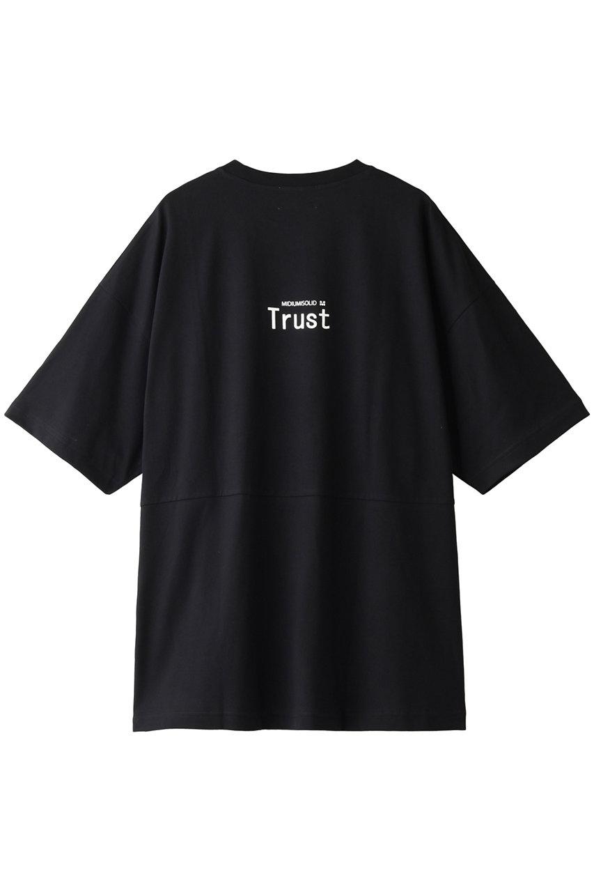 ミディウミソリッド/MIDIUMISOLIDの【UNISEX】LOGO PRINT T-SHIRTS/Tシャツ(ブラックA/3-110825)
