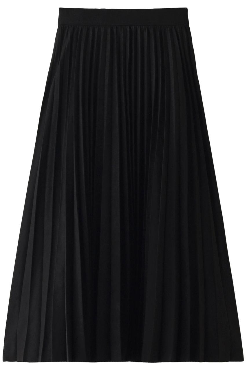 エジック/Ezickのスエードプリーツスカート(ブラック/913883)