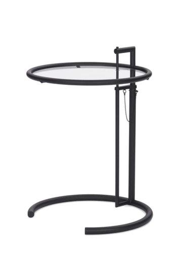 Classicon ADJUSTABLE table E1027 Black / Clear glass